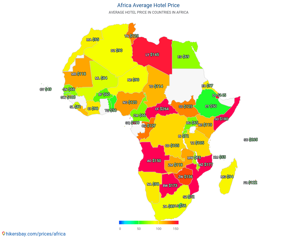 Africa - Hotel prices in Africa