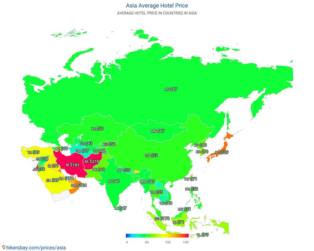 Asia - Hotel prices in Asia
