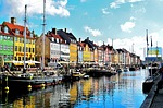 nyhavn district, water, reflection