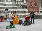 street musicians, street music, italy