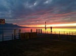 sunset, vevey, lake geneva
