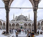 aya sofia, istanbul, blue