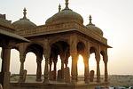 india, rajastan, sunset
