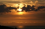 sunset, twilight, sea