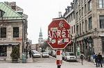 montreal, stop sign, vandalism