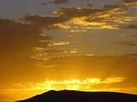 sunset, sun, golden