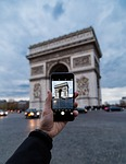 arc de triomph, paris, photograph