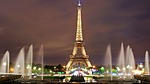 eiffel tower, lights, fountains
