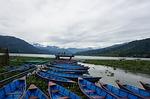boat, nepal, pokhara