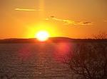 sunset, porto alegre, guaíba