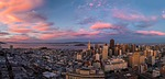 san francisco, sunset, drone