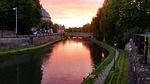 strasbourg, france, sunset