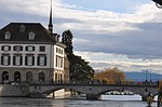 zurich, river, bridge