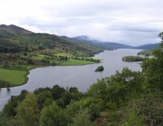 Loch Tummel, scotland , luskentyrebeach