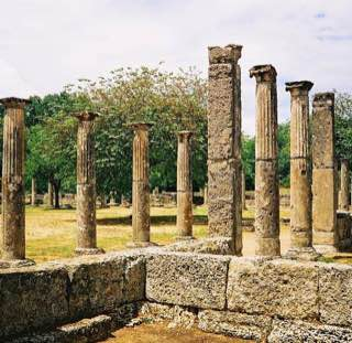 Palaestra at Olympia, greece , olympicriviera