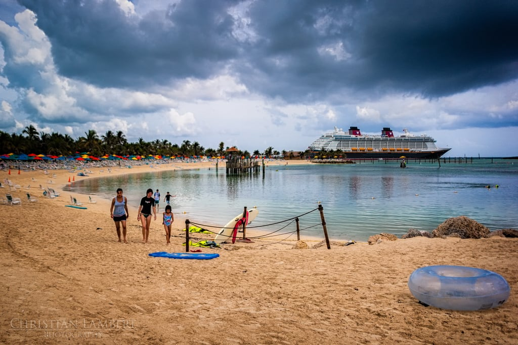 Image of Castaway Family Beach. ocean cruise storm beach clouds castaway sand nikon dream disney line atlantic gorda caribbean bahamas cay thebahamas sandypoint sigma28300 d700 dvcphoto92 southabaco