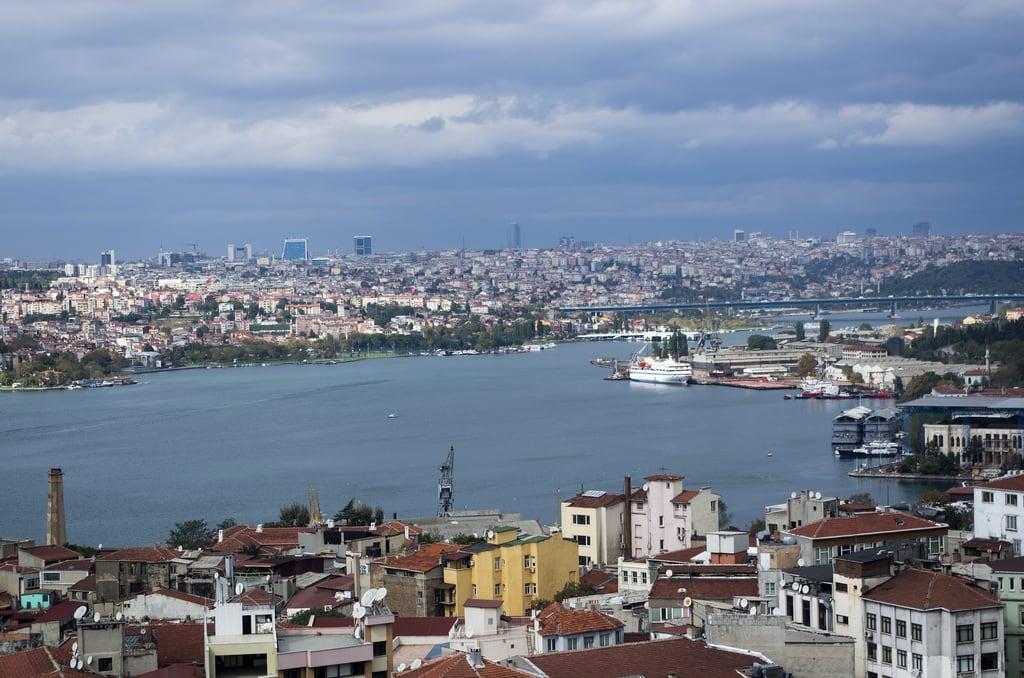 Image of Atatürk. city travel sea people urban turkey meer istanbul mosque menschen tur türkei stadt reise galata kastamonu moschee