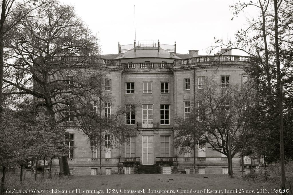 Image of Château de l'Hermitage. castle architecture de princes schloss castello castillo neoclassicism neoclassical burg valenciennes louisxvi néoclassique croy néoclassicisme renaudcamus