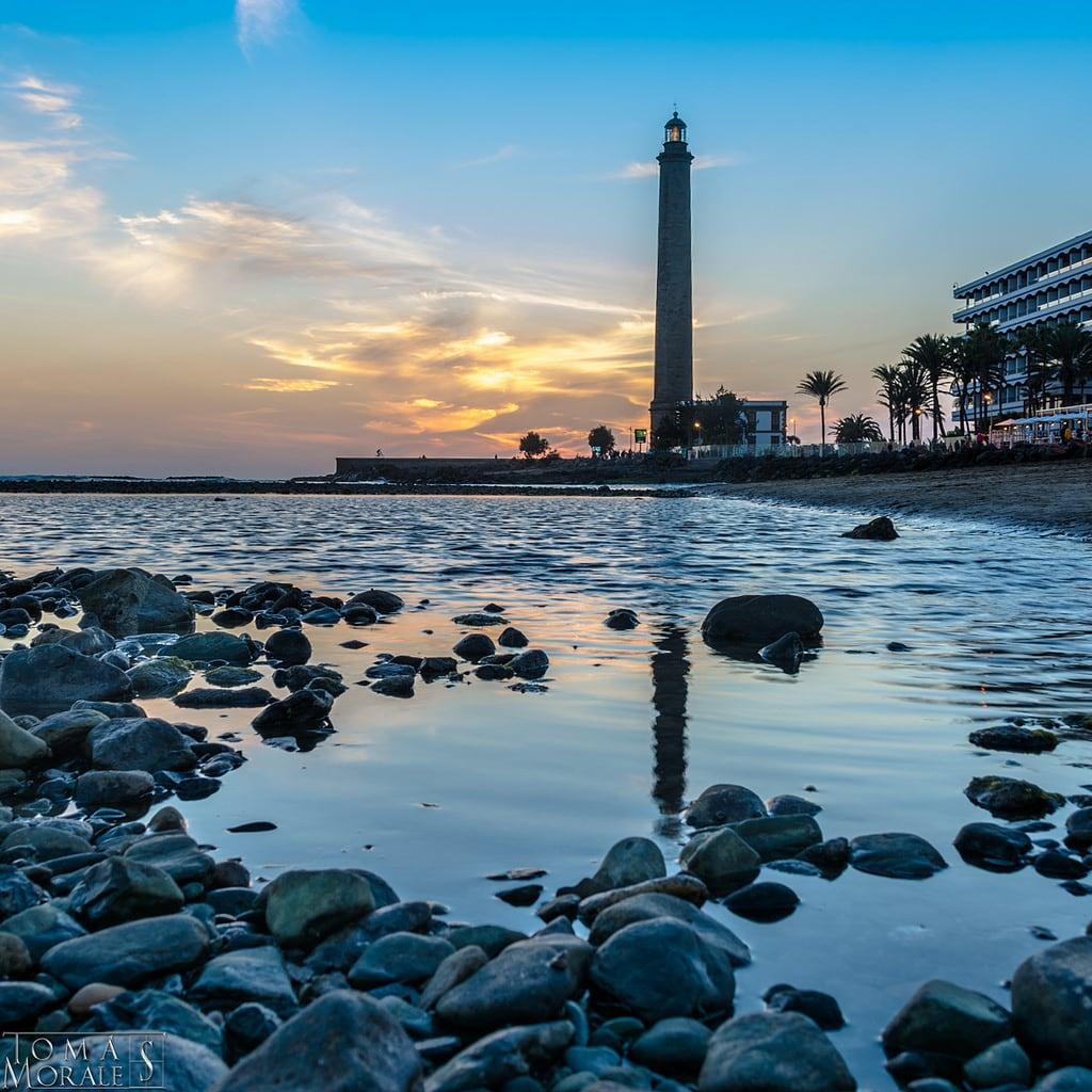 תמונה של Faro de Maspalomas. faro atardecer playa maspalomas