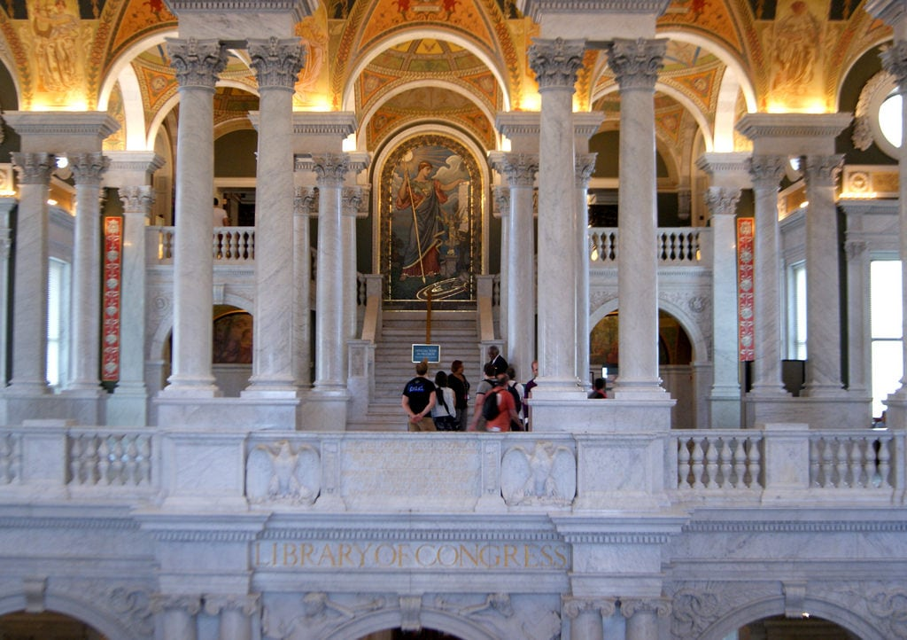 صورة Library of Congress, Thomas Jefferson Building. washingtondc libraries biblioteques libraryofcongress thomasjeffersonbuilding estatsunitsdamèrica bibliotequesnacionals bibliotecadelcongrés