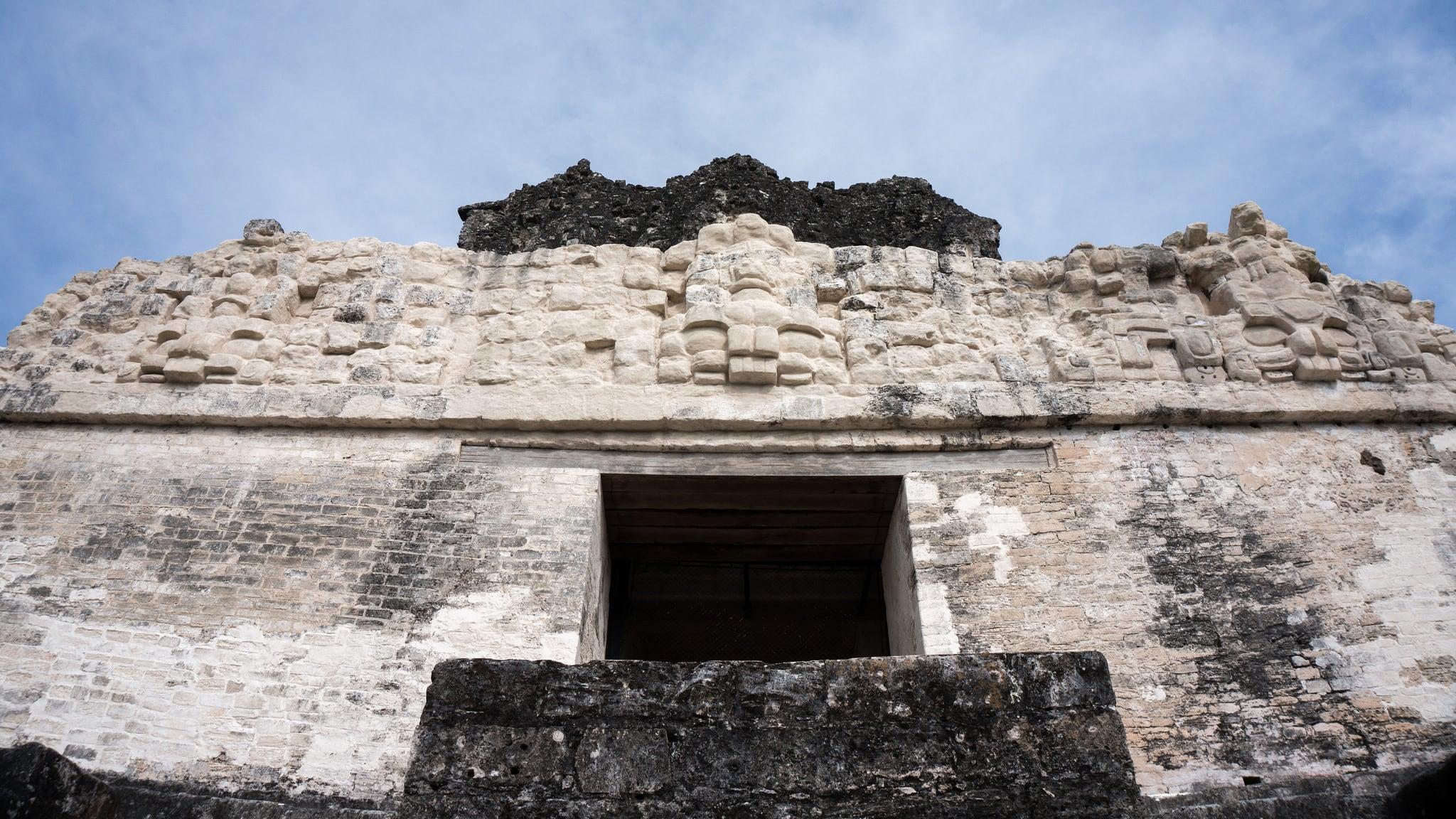 Temple II 在 Tikal 附近 的形象. guatemala tikal petén