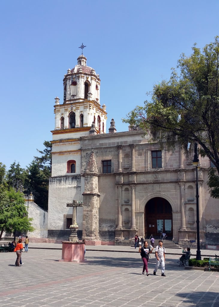 Imagine de Iglesia de San Juan Bautista. church saint john mexico df san catholic juan iglesia convento baptist coyoacan bautista