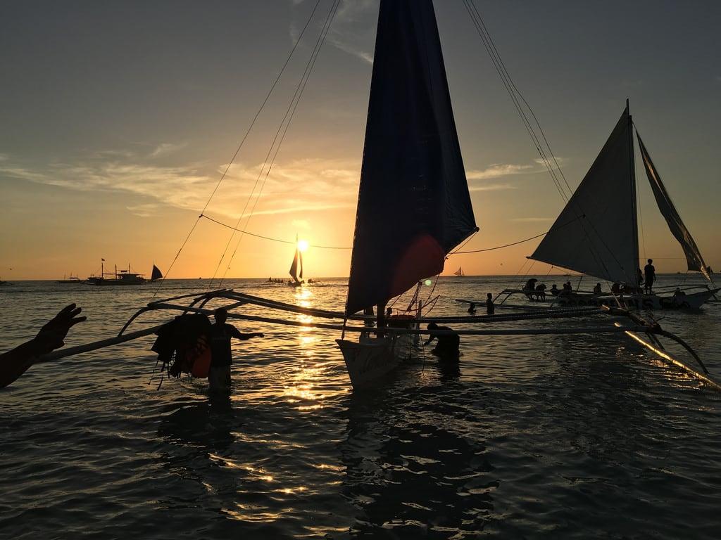 Bild av Boat Station 1. sunset