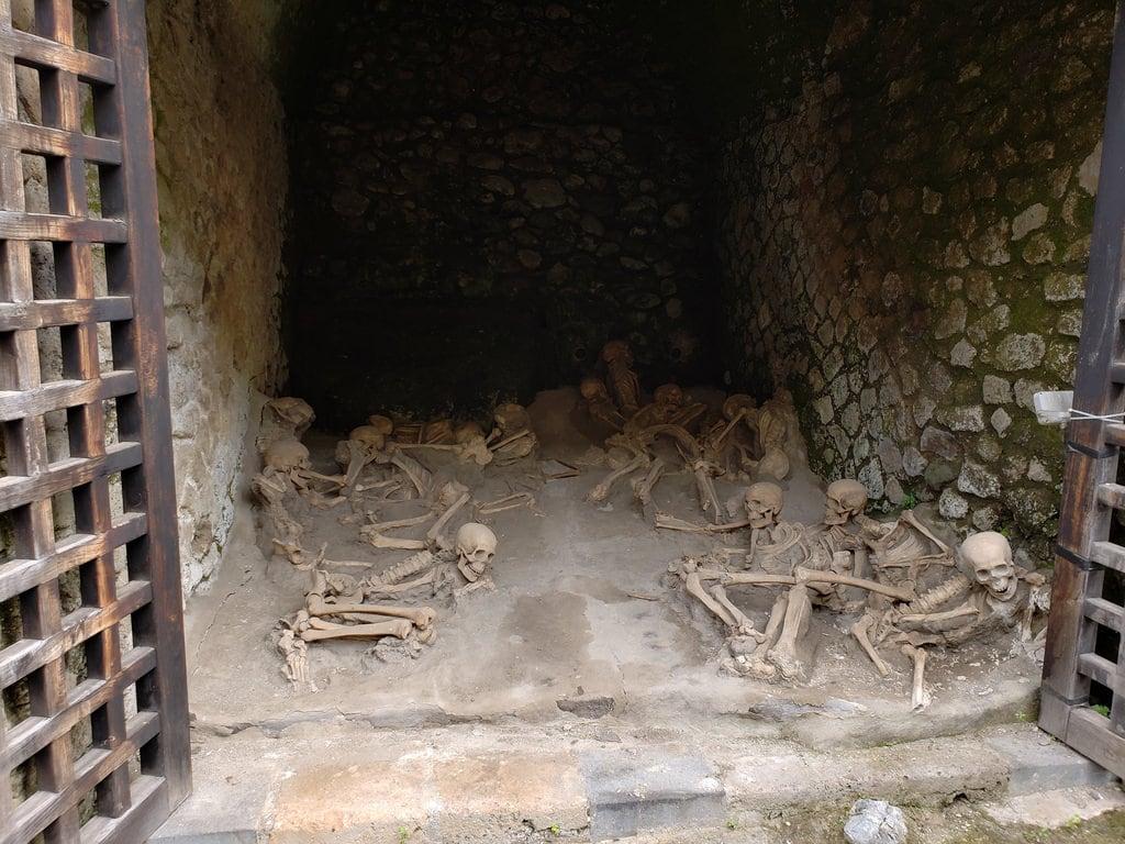 Изображение Herculaneum. skeletons lava naples erolano campania italy volcanic rome ancient herculaneum