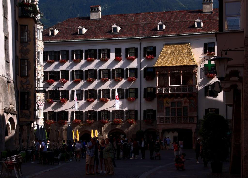 Image of Golden Roof. innsbruck altstadt oldtown vieilleville goldenedachl goldenesdachl goldenroof petittoitdor alpi alpes alps alpen alperna tirol tyrol österreich autriche austria österrike østrig giåm guillaumebavière