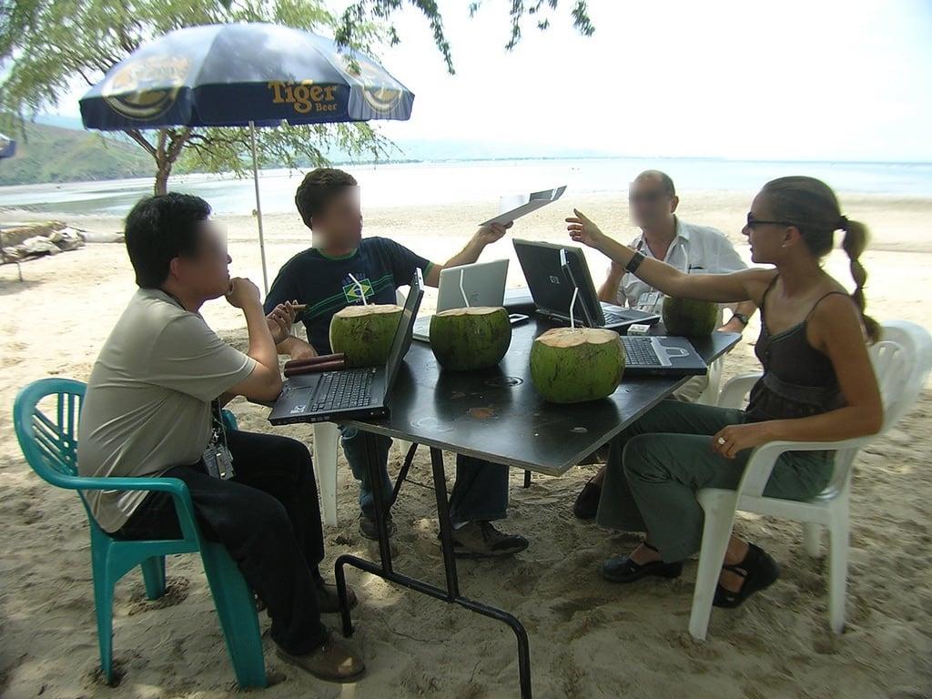 Bilde av Stranden med en lengde på 1616 meter. office meeting timor easttimor dili hardlyworking timorleste undp unv areiabranca
