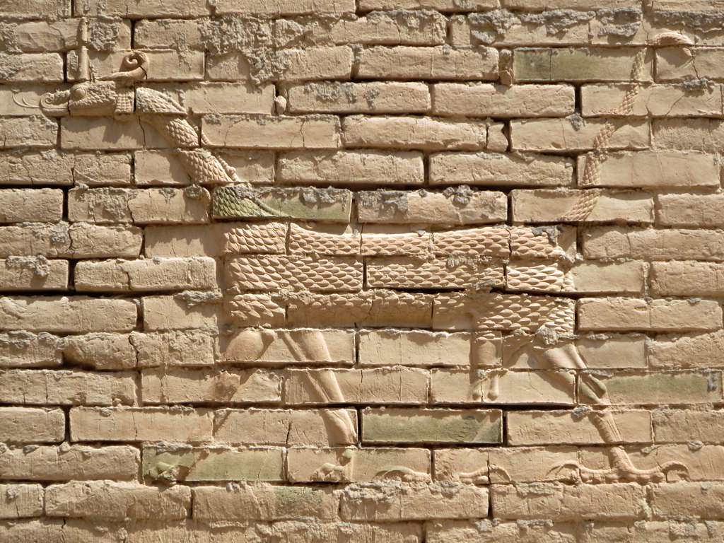 Image of Ishtar gate. himera ishtar gate babylon iraq