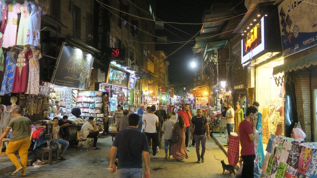 Image of Khan el-Khalili. souk bazaar egypt