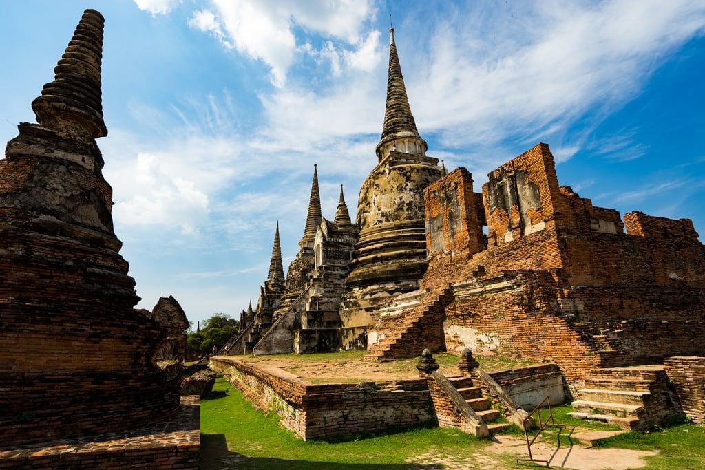 תמונה של Wat Phra Si Sanphet. ancientruins thai ayutthaya watphrasisanphet ilce7m2 thailand テーサバーンナコーン changwatphranakhonsiayuttha タイ テーサバーンナコーン・プラナコーンシーアユッタヤー changwatphranakhonsiayutthaya th