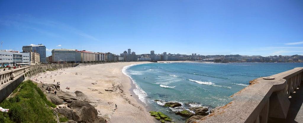 Εικόνα από Praia do Orzán Orzan Beach. lacoruna galicia spain