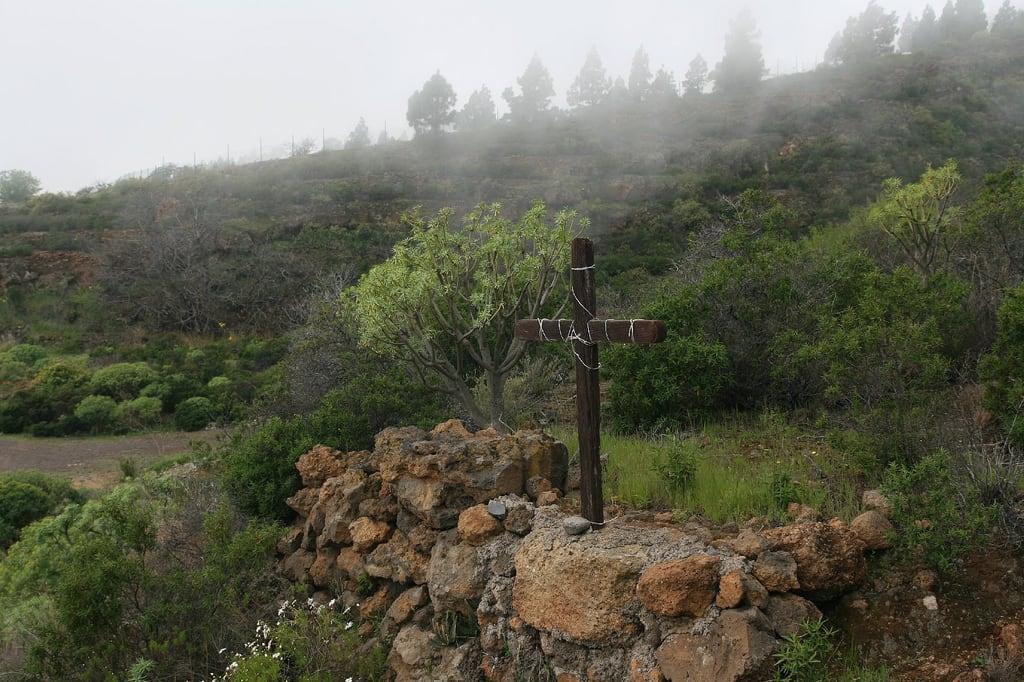 Cruz de Afoña görüntü. hiking canarias tenerife senderismo arafo etnografía unidadambientaljaralesyescobonales