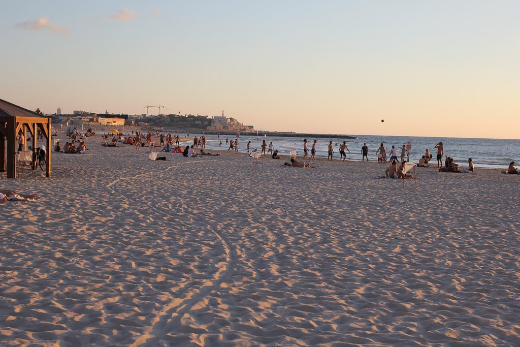 Geula Beach (חוף גאולה) Geula Beach közelében Tel Aviv képe. telaviv israel isr evening