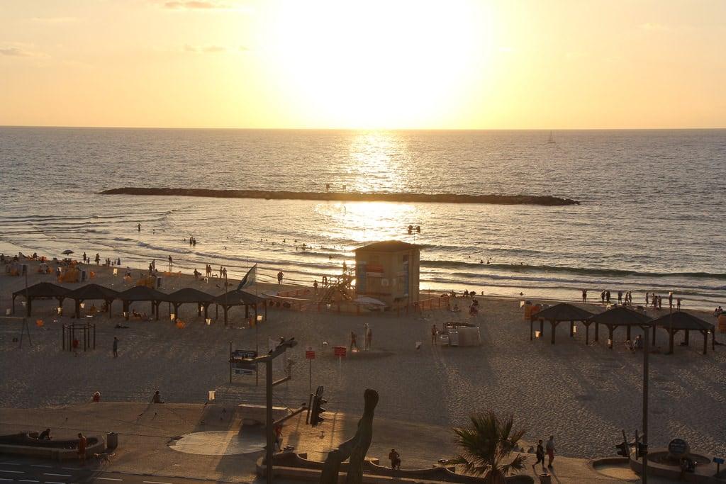 Jerusalem Beach (חוף ירושלים) Jerusalem beach közelében Tel Aviv képe. telaviv israel isr sunset beach