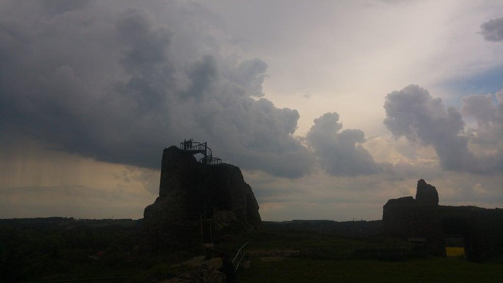 Image of Lichnice. hrad zřícenina chrudimsko vyhlídka rozhledna mraky clouds déšť castle ruin ruina
