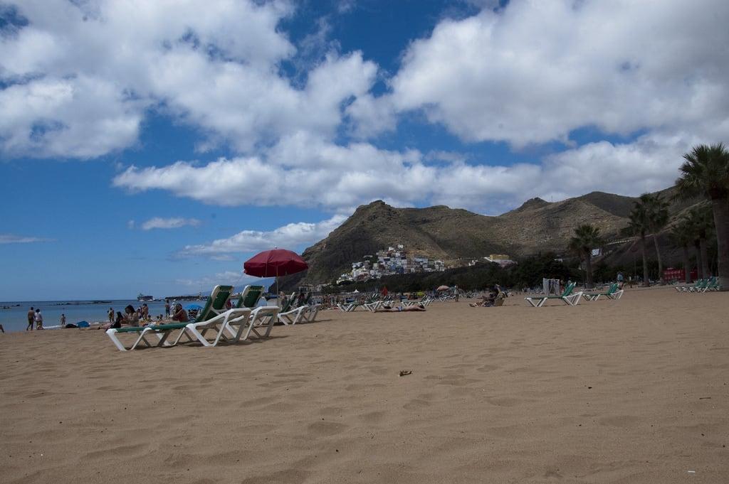 Playa Teresitas görüntü. tenerife