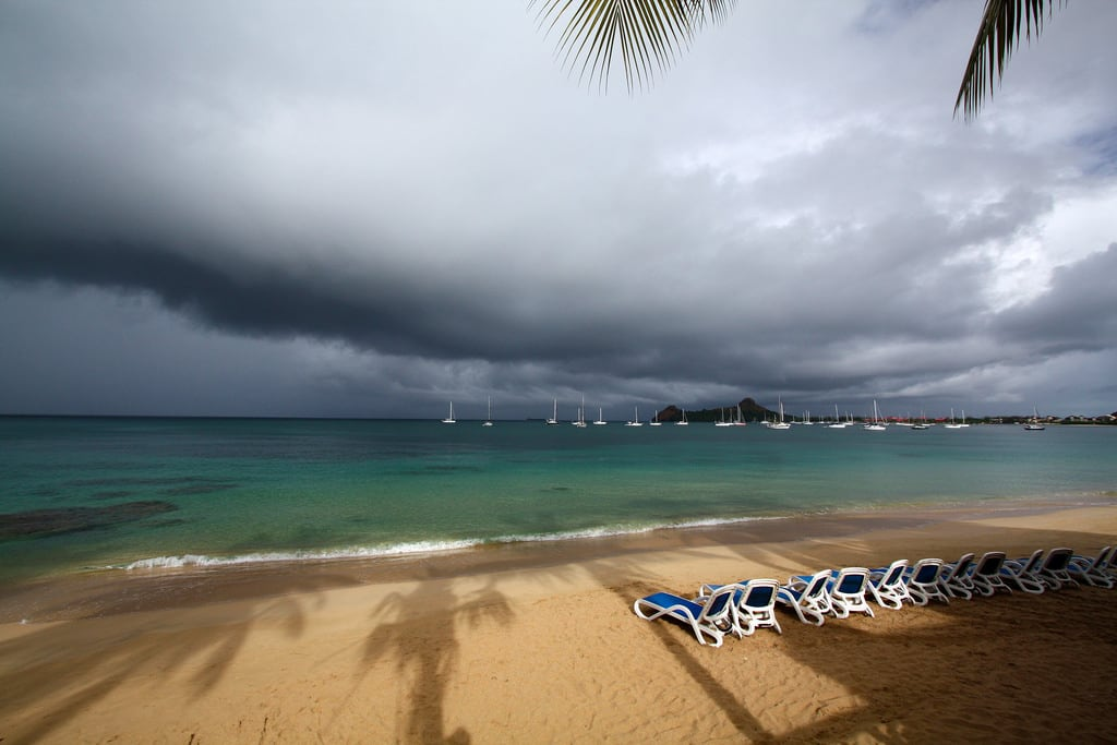 Reduit Beach 의 이미지. rodneybay stlucia caribbean atlantic beach storm vacation sea shore clouds 2014