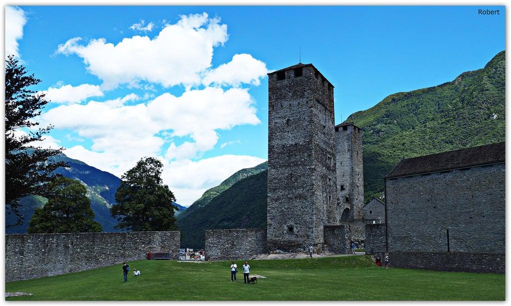 Image of Castelgrande. castelgrande bellinzona tesino suisse switzerland suiza robert