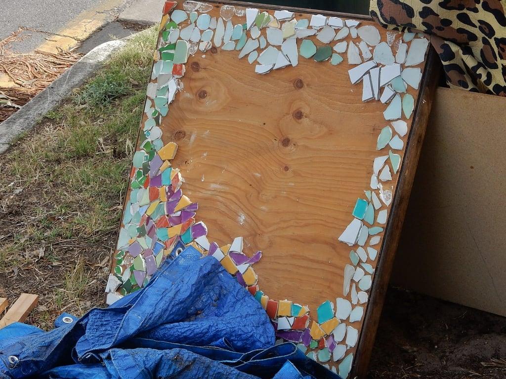 Image of Henley Beach near Henley Beach. rubbish discarded mosaic broken henleybeach