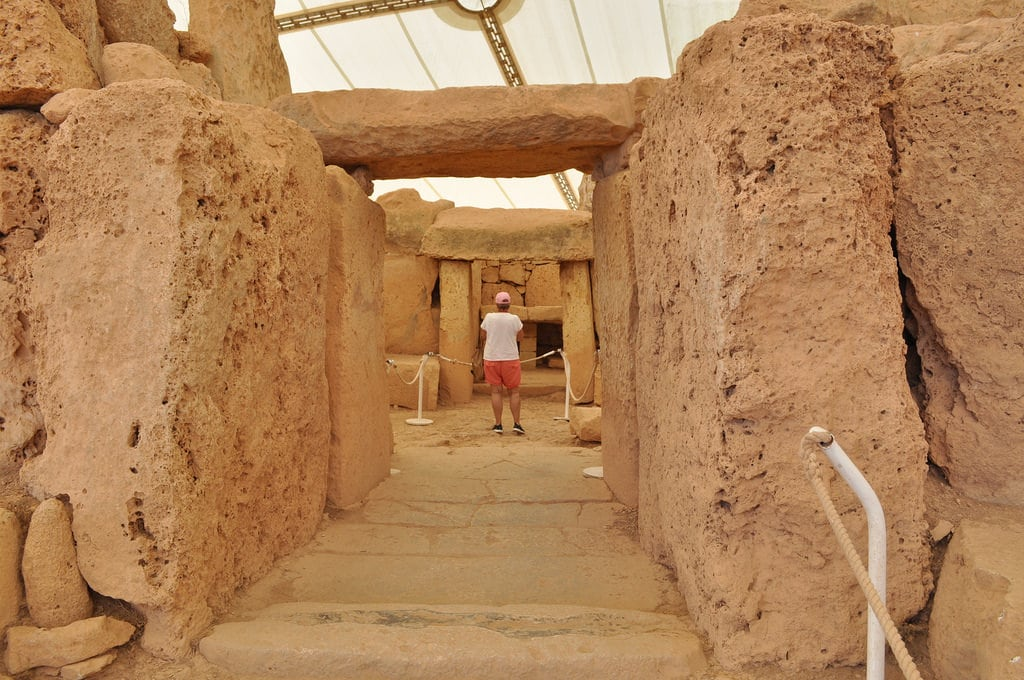 Billede af Mnajdra temples. malta mnajdra temple archeology megalithic limestone worldheritagesite