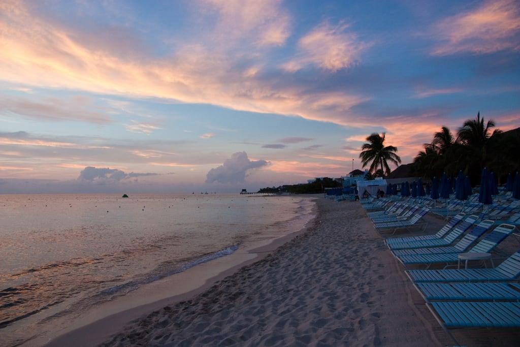 תמונה של Playa Paradise. strand sonnenuntergang urlaub cozumel amerika landschaft mexiko mex quintanaroo mexmexiko