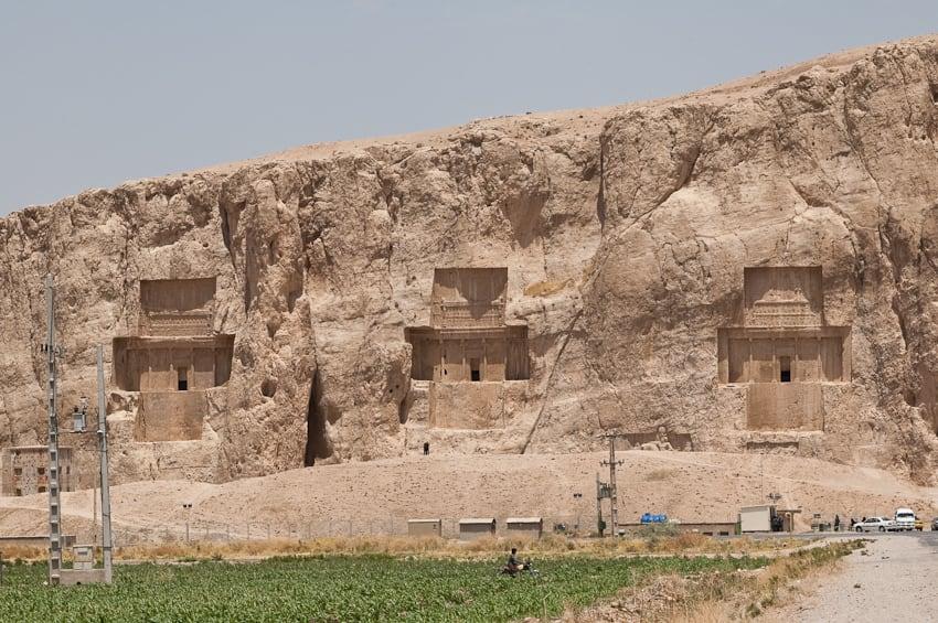 Image of Naqsh-e Rustam. persian iran crosses persia shiraz rustam achaemenid نقش رستم naghsherostam naghshe naqshe