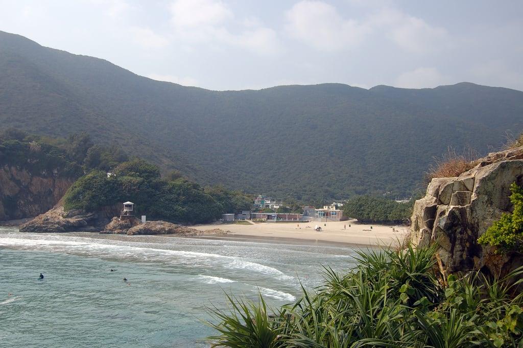 Attēls no Big Wave Bay Beach (大浪灣泳灘) Big Wave Bay Beach. beach hongkong bay big asia surf wave trail 2010