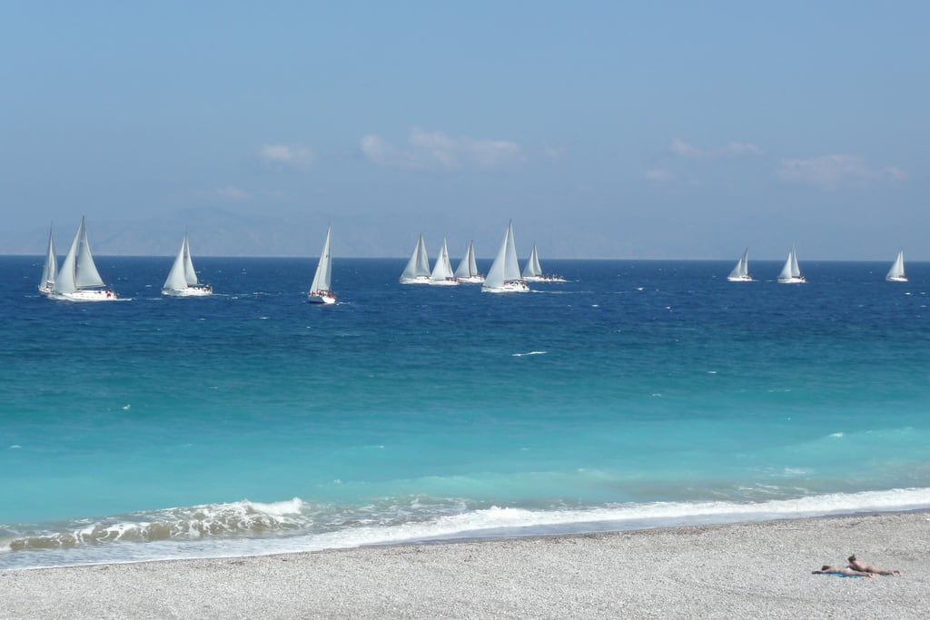 Εικόνα από Παραλία Ψαροπούλα Windy Beach. beach race mba yacht greece trophy rodos rhodes global ixia rhodestown rodhos globalmbatrophy