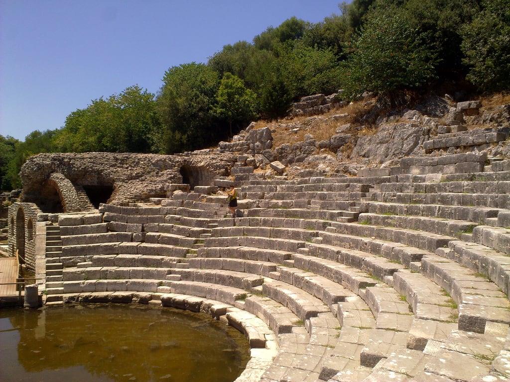 Image of Theatre. theater amphitheater albania butrint archeologicalsite shqipëri republicofalbania shqipëria shqipnia republikaeshqipërisë n868mp shqypnia