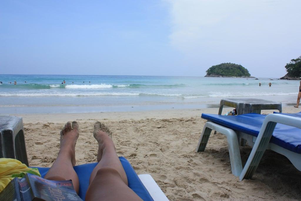 Image of Kata Yai Beach near Ban Karon. beach thailand phuket