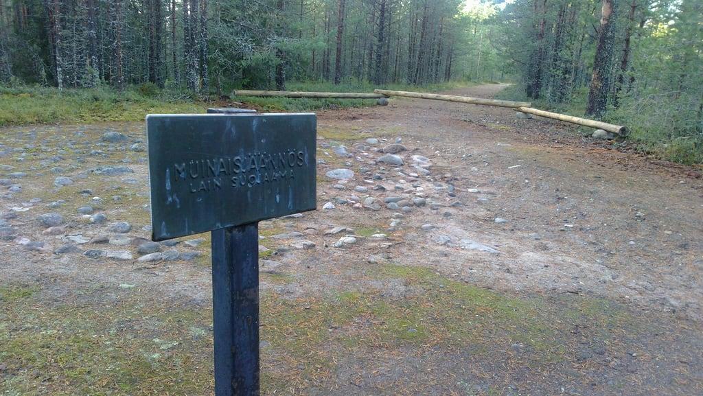 Image of Jatulintarha. suomi haukipudas kyltti sign muisnaisjäänne historic